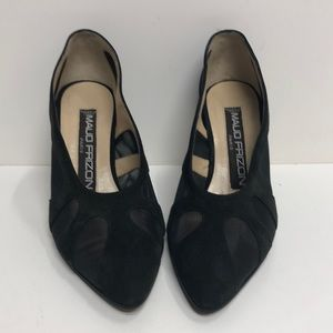 Maud Frizon Made in Italy Black Suede Pump